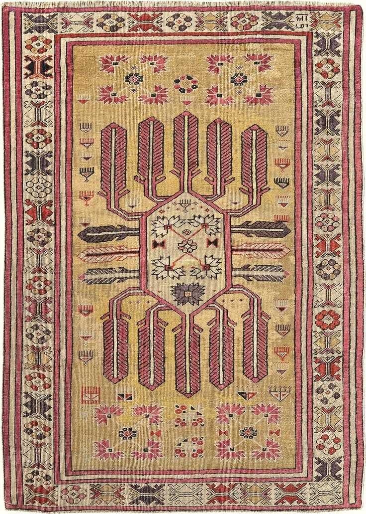 "Turkish Ghiordes rug, 3' 6"" x 5' 0"""