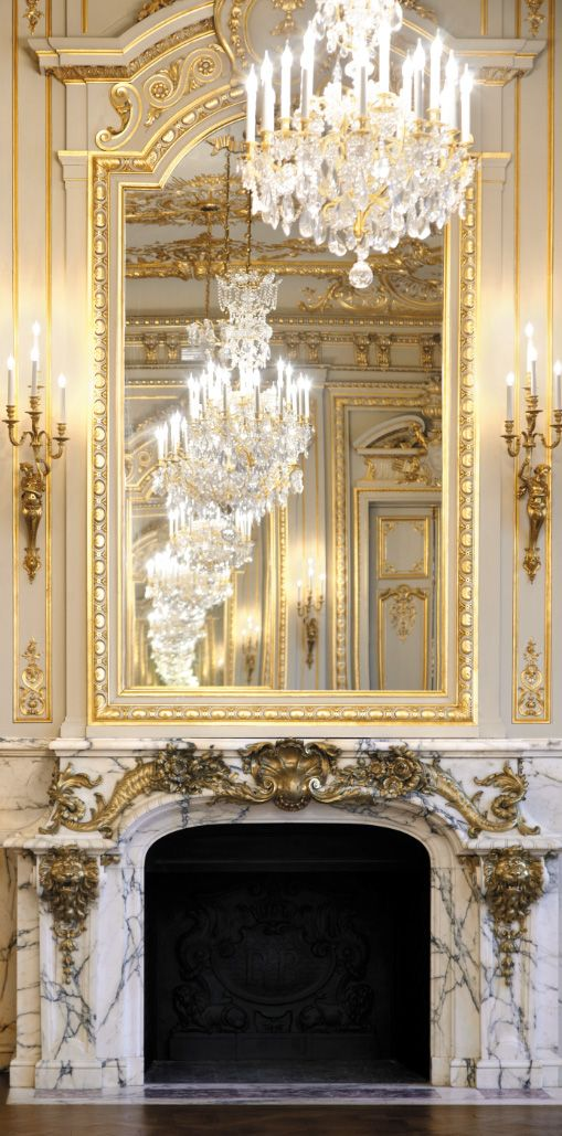 14 best gorgeous chandeliers images on pinterest shangri la shangri la paris grand salon fireplace aloadofball Images
