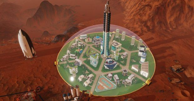 Meteors rain on the Red Planet in Surviving Mars trailer