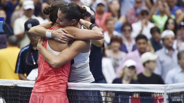 Flavia Pennetta dopo una storica vittoria nello Slam di New York, annuncia in diretta mondovisione il suo addio al tennis.