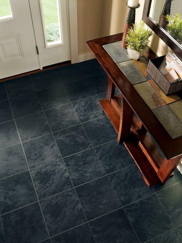 I Want Black Laminate Flooring That Looks Like Tile :) Upstairs Bath Needs  This!