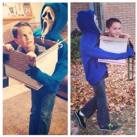 12 yr old's trippy Halloween costume