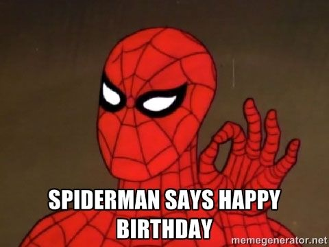 bc4d2329f462cbaaa2b7c95505074f14 funny spider spiderman meme 97 best birthday wishes images on pinterest birthday wishes,Spiderman Happy Birthday Meme