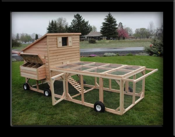 Mobile chicken coop design woodworking projects plans for Mobile chicken coop plans