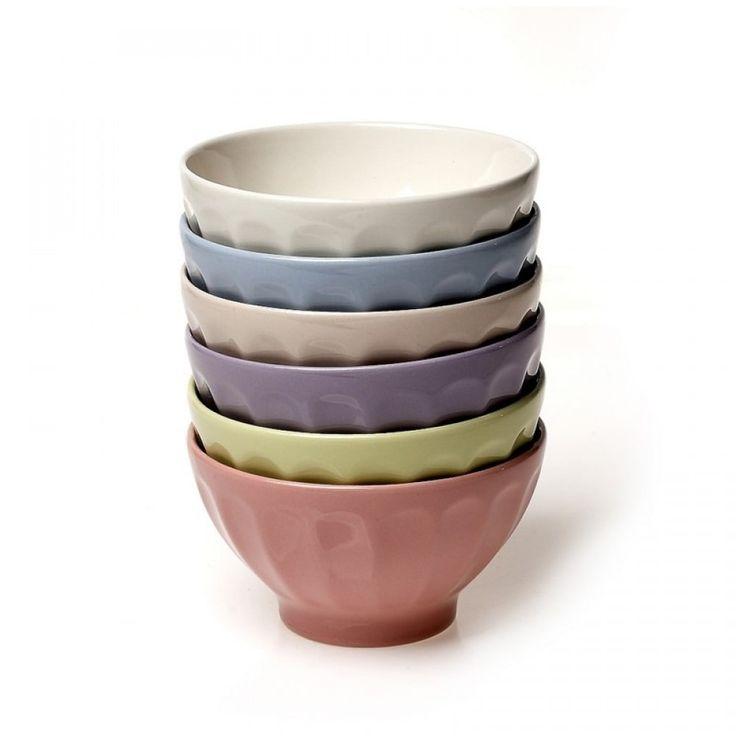 Μπωλ πρωινού σετ/6 σε 6 διαφορετικά χρώματα Διάμετρος 14 cm