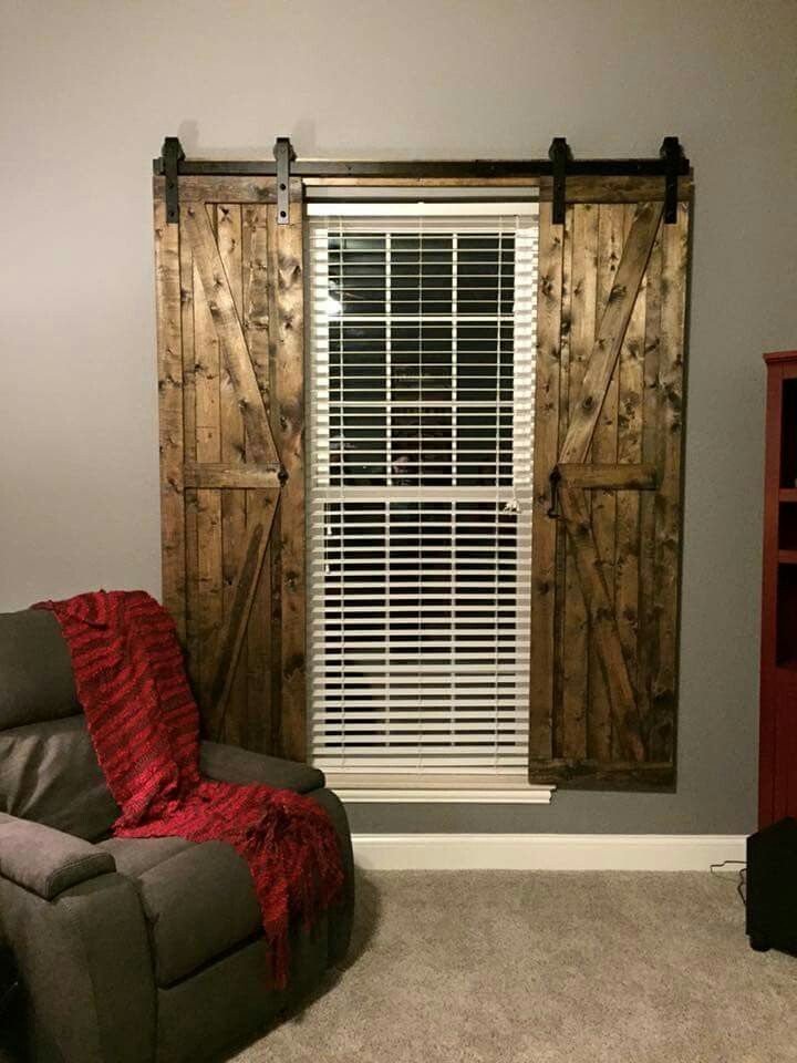 Barn door shutters decor pinterest a well sliding for Window cover for home