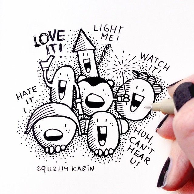 Fireworks, love it or hate it! #drawing #illustration #fireworks #doodling #paperfuel