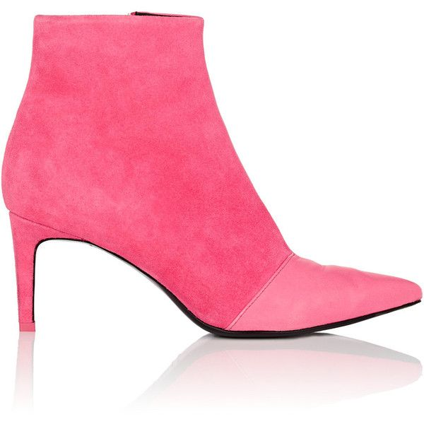 Rag & Bone Women's Beha Leather & Suede Ankle Boots ($525) ❤ liked on Polyvore featuring shoes, boots, ankle booties, ankle boots, pointy toe booties, pointed toe booties, suede bootie and pointed toe high heel booties