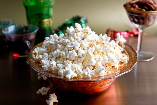 Brown paper bag microwave popcorn. No need for a popcorn maker or wok, or chemical laden pre-packaged popcorn bags.