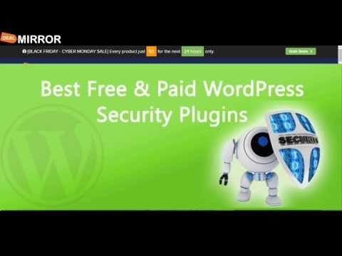 5 Best Free and  Paid WordPress Security Plugins - http://www.howtowordpresstrainingvideos.com/wordpress-security-plugins/5-best-free-and-paid-wordpress-security-plugins/