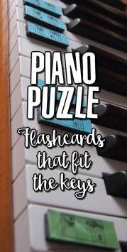 Tiny flashcards for piano keys