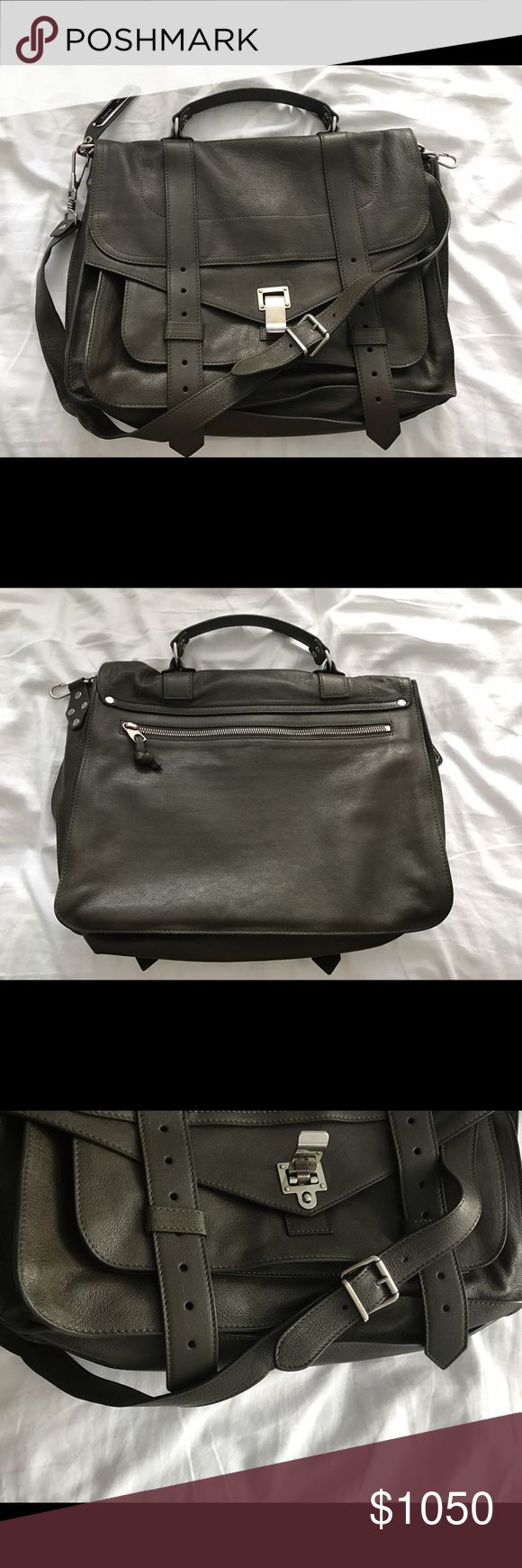 Proenza Schouler PS1 Large In like new condition. Military color, large size. Comes with original dust bag and tags. Proenza Schouler Bags Shoulder Bags