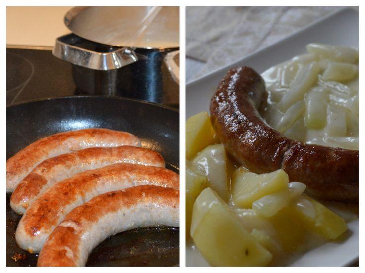Typical German Food: Kohlrabi and Bratwurst