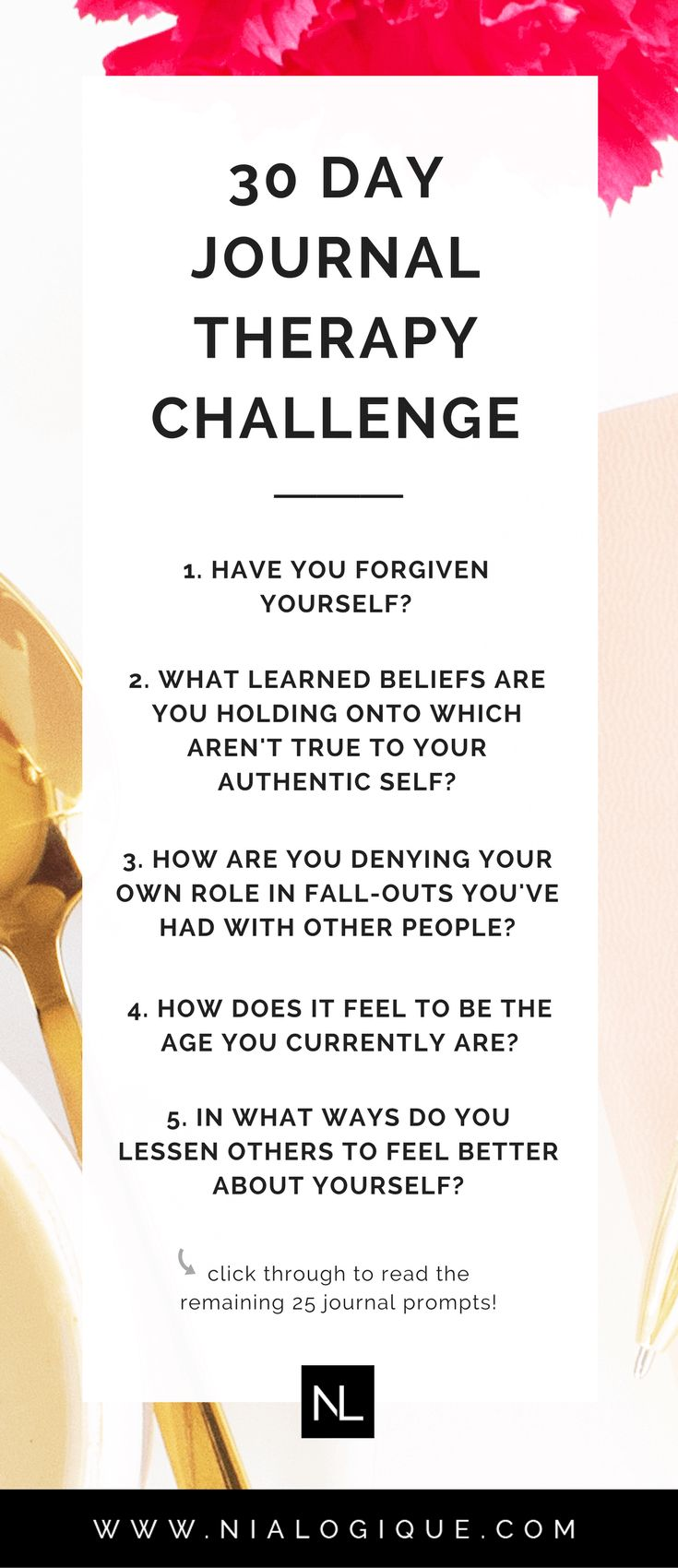 30 Journal Prompts + Questions for Self-Discovery and Awareness — The 30 Day Challenge | self-improvement, inspiration, motivation, personal growth, therapy, personal development, journaling, bullet journal, self-care, finding purpose, quotes, spiritual, self-reflection, self-love