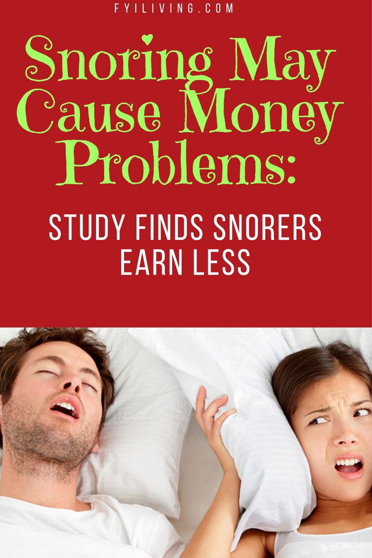 Snoring May Cause Financial Problems