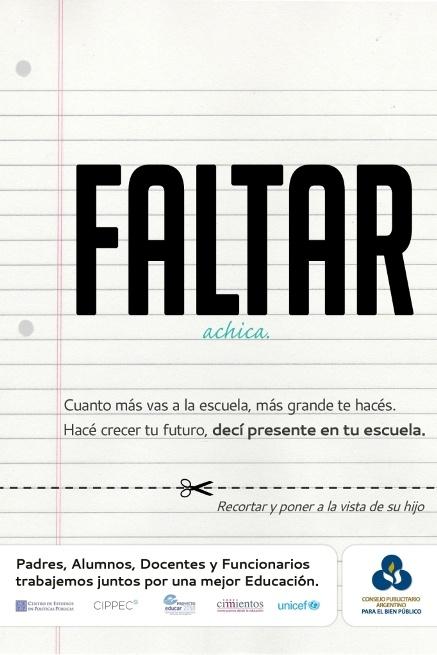 Consejo Publicitario Argentino » Blog Archive » Faltar achica