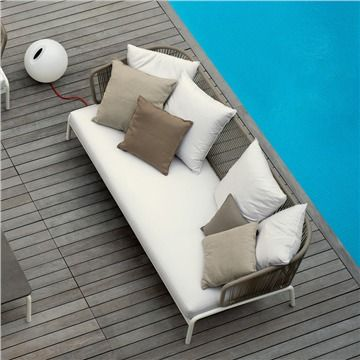 RODA Spool Sofa - Style # SPL00x-01-01, Modern Outdoor Sofa – Contemporary Outdoor Sofa – Patio Sofa - Modern Outdoor Furniture | SwitchModern.com