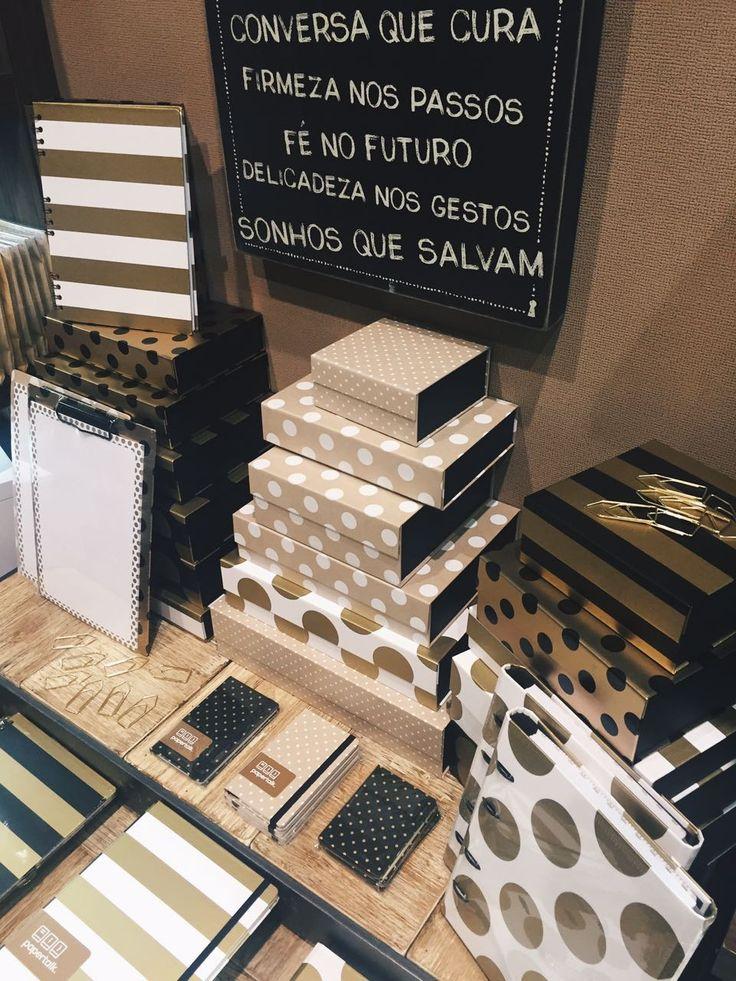 Linha Gold & Kraft na loja Além do Papel em Curitiba-PR!