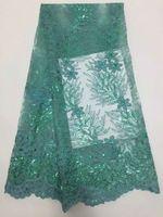 Francuski Haftowane Gipiury Koronki Netto, wysoka Jakość Afryki Szwajcarski Woal Siatki Cekiny Koronki Tkaniny Dla Kobiet Party Dress Vs-d2091