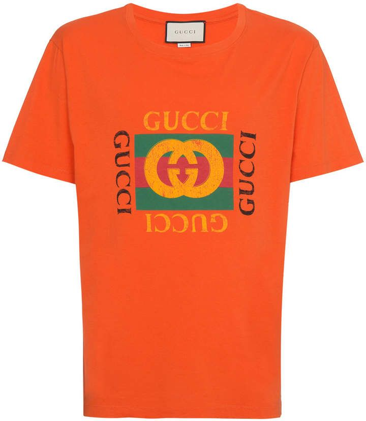3d7948ee0e6 Gucci Orange Fake Logo T Shirt