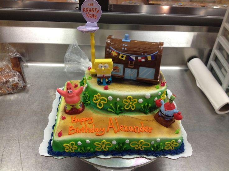 Krusty krab cake sponge bob my cakes pinterest