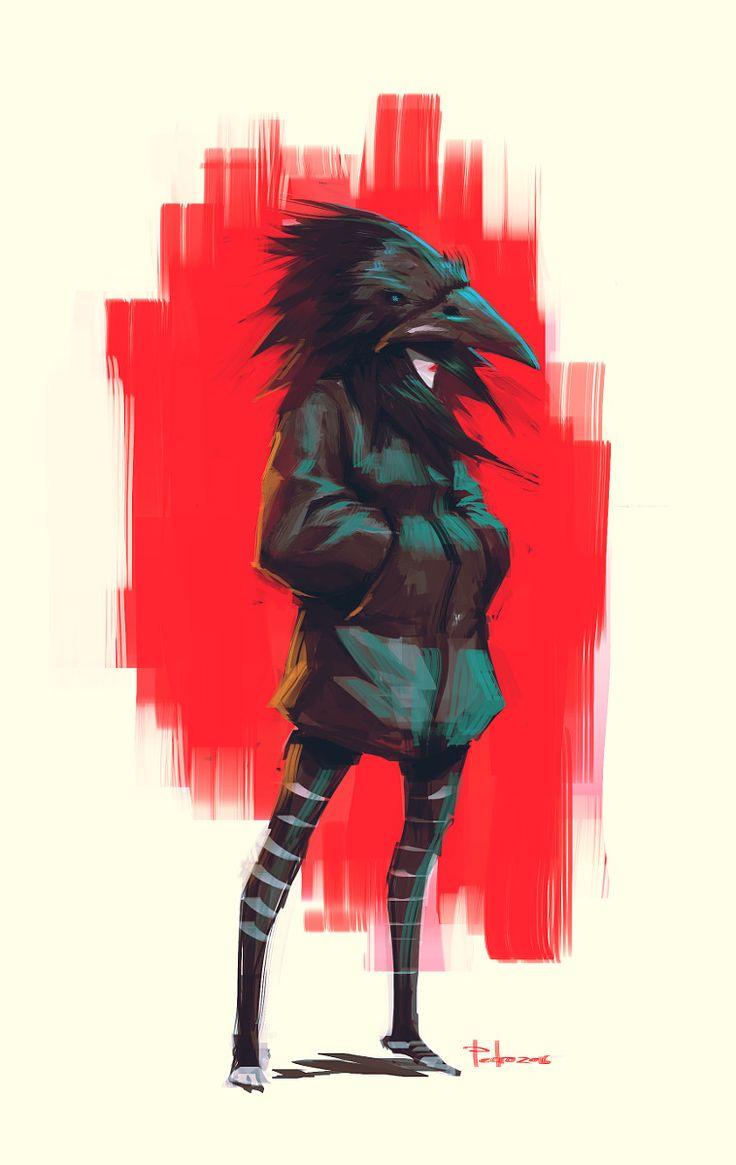 The girl with the raven mask, Pedro Pitéu on ArtStation at https://www.artstation.com/artwork/n220O