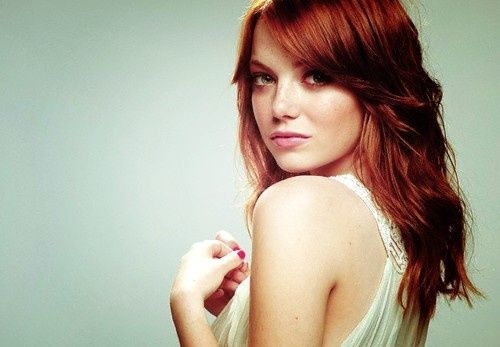 emma stones red hair