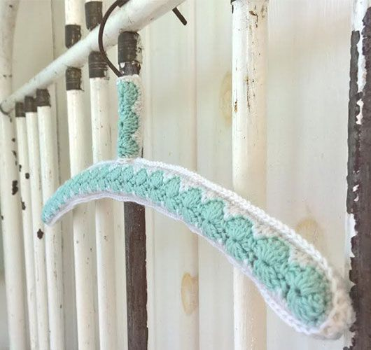 Crocheted hanger cover