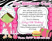 Sleep over invitation