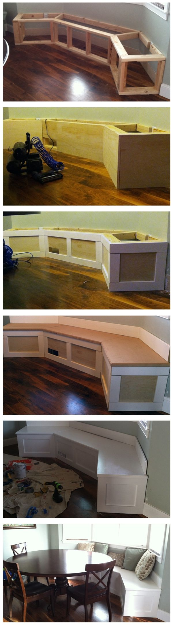 Bench seating. Perfect! put a piano hinge on the back and make it into a storage bench :-)