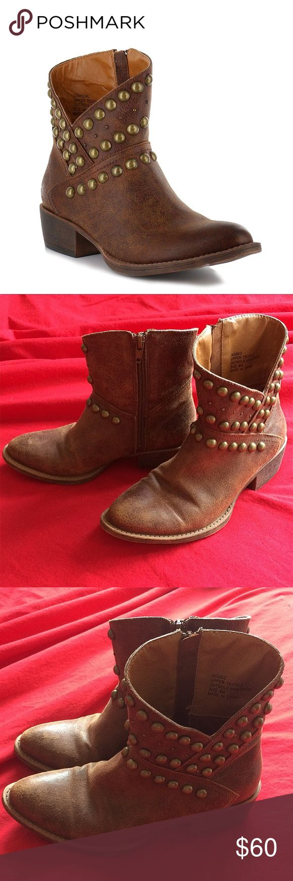 """Coconuts by Matisse Rodeo Cowgirl Booties Brand: Coconuts by Matisse Footwear - """"Rodeo""""  Size: 6 (width: M)  Color/material: tan, man-made leather (vegan), distressed style  Condition: Brand New! Worn once; no signs of wear - ready to be broken in ❤ Stylish boots pair perfectly with dresses, skirts, shorts, and skinny jeans to show off your country side with class 😘💎 🍾🐴👢 matisse Shoes Ankle Boots & Booties"""