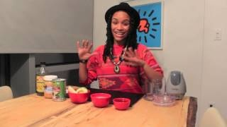 DIY Winter Beauty: Raw Organic Hair Smoothie (Deep Conditioning Treatment) + Hair Butter, via YouTube.