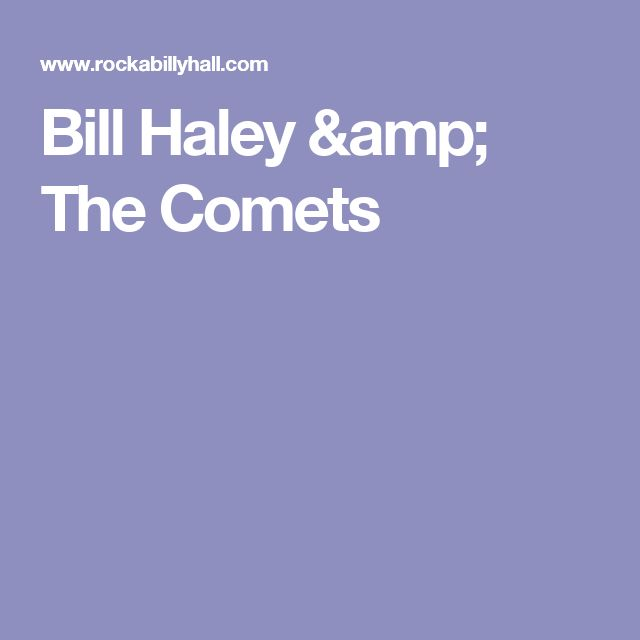 Bill Haley & The Comets
