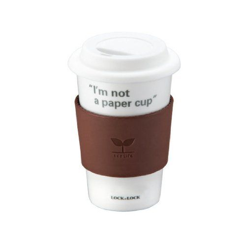 Lock Eco 1.6-Cup Size Mug, Brown by Lock $11.70. Non-toxic silicone cap and band. Microwave and top rack dishwasher safe. 1.6-Cup/13-1/2-fluid ounce. Alumina increases the mug's strength and safety. Ceramic eco-Cup ; a mug cup with long term benefits reduces the amount of disposable items. An environmentally-conscious way to enjoy your morning coffee. Enjoy your daily coffee in this beautifully made single-walled, porcelain-Cup. Made from the highest quality mat...