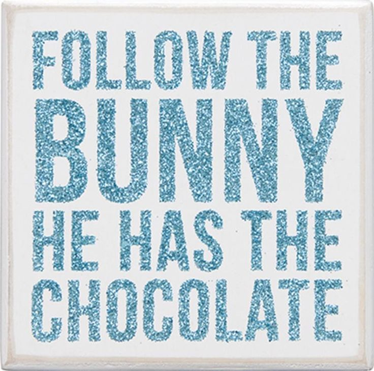 Easter Follow the Bunny Chocolate Box Sign