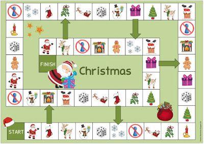 Ideenreise: Weihnachtliche Spielfelder für Englisch und DaZ