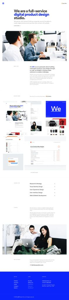Site of the day: LAIR See more: https://mindsparklemag.com/website/lair/  LAIR is a beautifully designed site that is featured as Site of the Day on design blog Mindsparkle Mag
