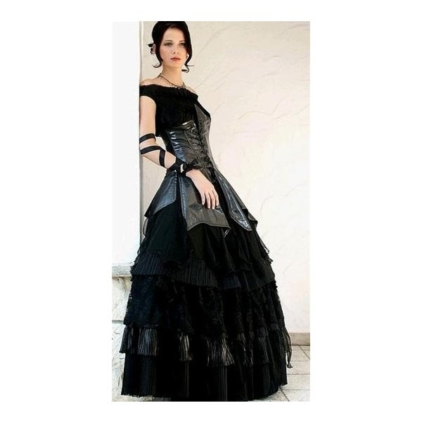 Black Gothic Wedding Dress Liked On Polyvore Things We