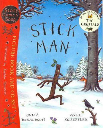 Life-is-full-of-adventures-for-Stick-Man-A-dog-wants-to-play-with-him-a-swan-builds-her-nest-with-him-Will-he-ever-get-back-to-the-family-tree-The-classic-picture-book-includes-an-audio-CD-performed-by-acclaimed-actress-Imelda-Staunton-Listen-to-the-full-story-with-music-play-the-Stick-Man-Listening-Game-and-sing-along-to-the-Stick-Man-Song