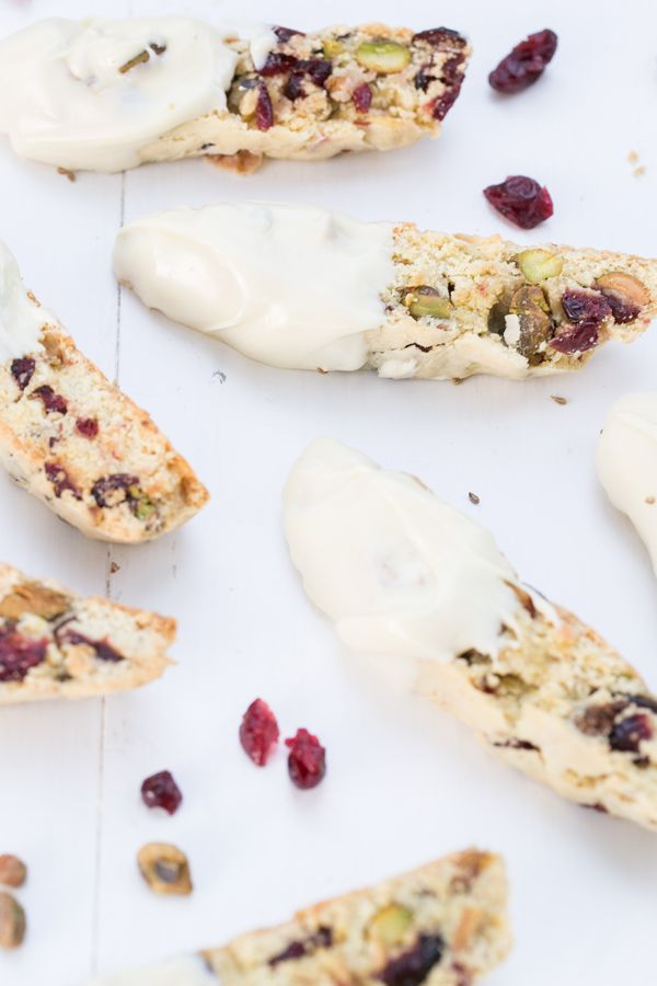Holiday Biscotti with Cranberry and Pistachios | Homemade ...