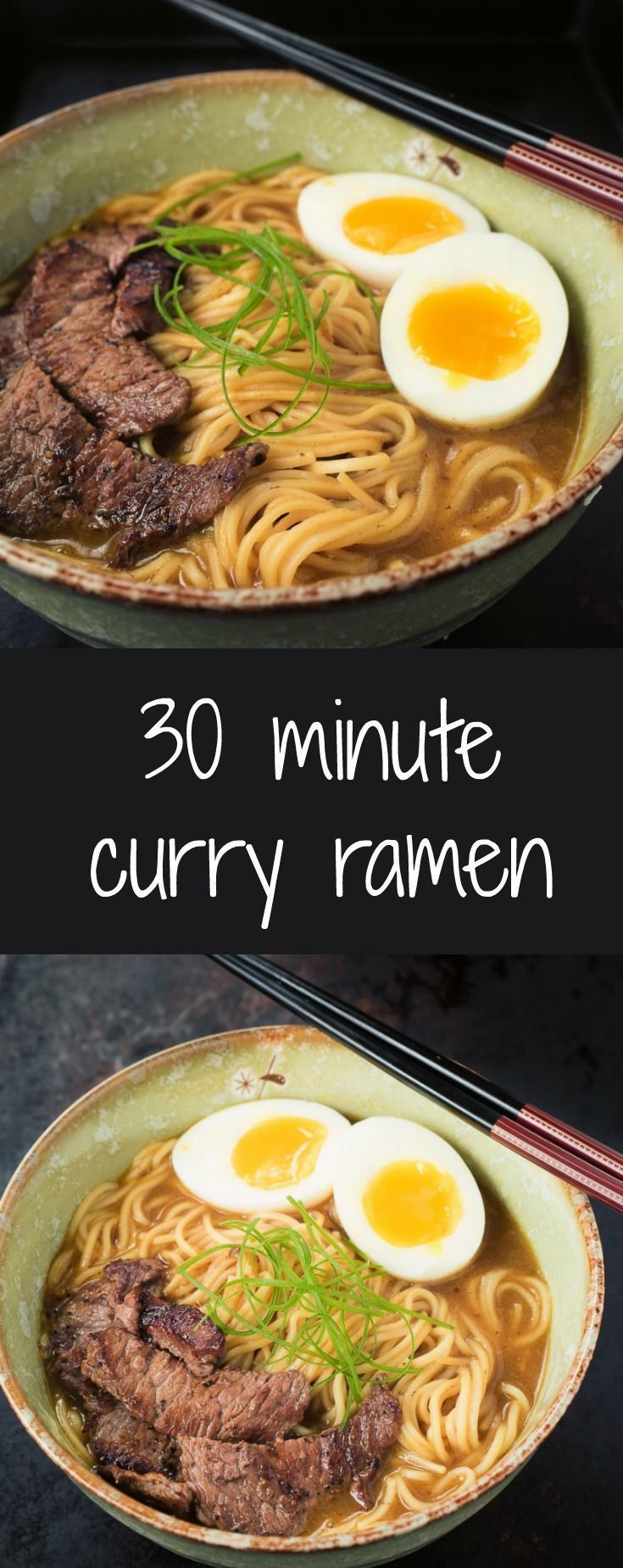If you are looking for a quick curry ramen fix this one can be on the table 30 minutes after you walk into the kitchen. It's rich, salty goodness in a bowl.