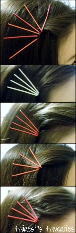 Colored Bobby Pin Hairstyles