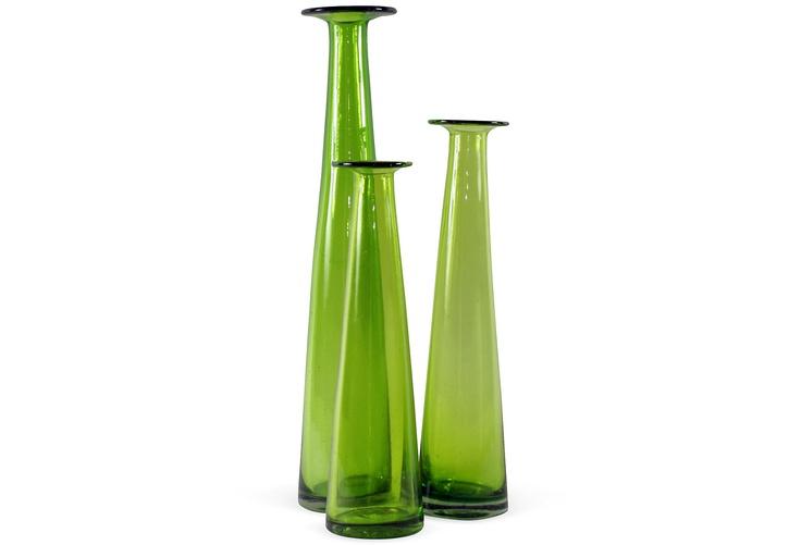 Blown Glass Vases, Set of 3 on One Kings Lane today: Glasses Vase