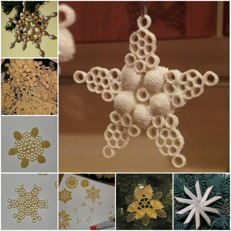 DIY Pasta Snowflake Ornament for Christmas
