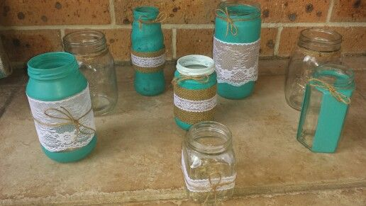 Diy vases and candle holders!
