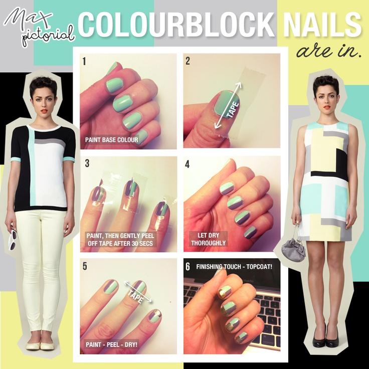 Max Pictorial... Colourblock Nails