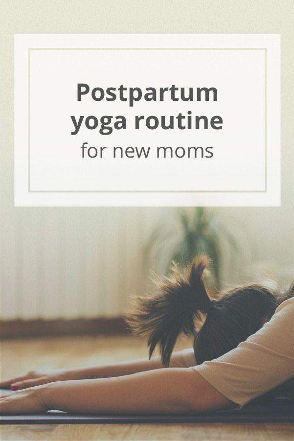 Postpartum Yoga Routine for New Moms #yoga #postpartum #yogateacher