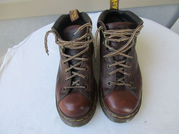 Dr. Martens Air Wair men boots UK 8 / US 9 Brown Ankle England #DrMartens #AnkleBoots