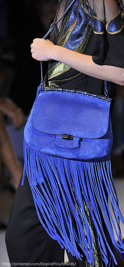 Fringed bag from Gucci SS14 collection