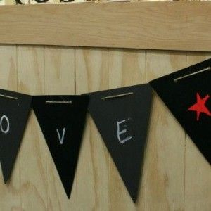 This Flag Bunting flexible chalkboard wall decal is an exciting new way of adding flair to your home decor. Write notes, make lists, play games…. the list is endless! NZ$17.95 from Squoodles  http://squoodles.co.nz/products/blackboard-bunting-chalkboard-wall-decal/